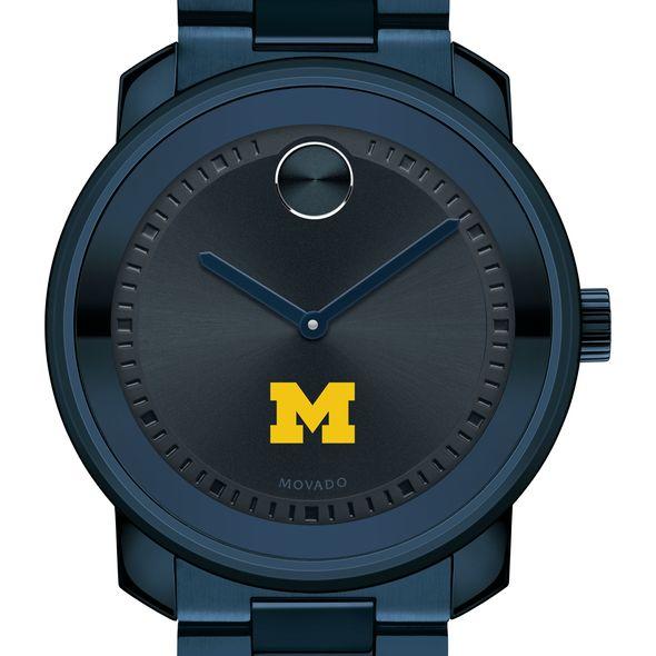 University of Michigan Men's Movado BOLD Blue Ion with Bracelet