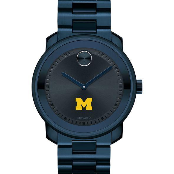 University of Michigan Men's Movado BOLD Blue Ion with Bracelet - Image 2