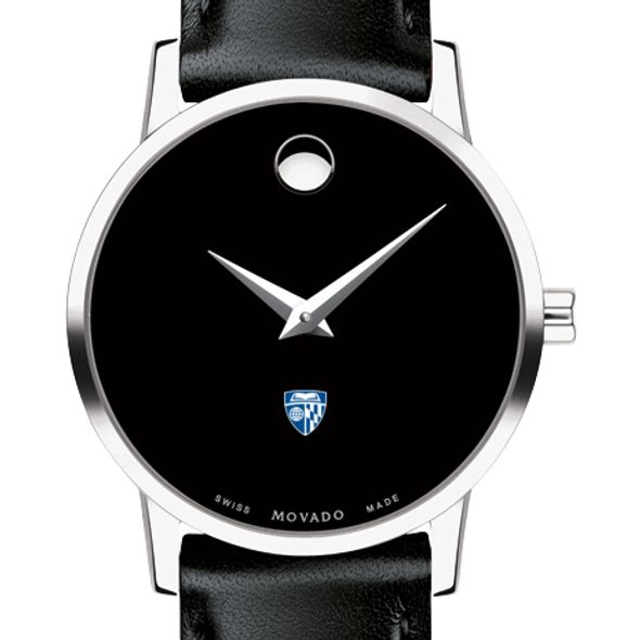 Johns Hopkins University Women's Movado Museum with Leather Strap