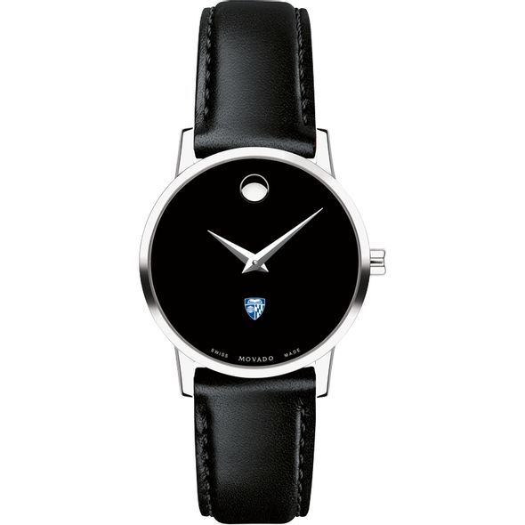 Johns Hopkins University Women's Movado Museum with Leather Strap - Image 2