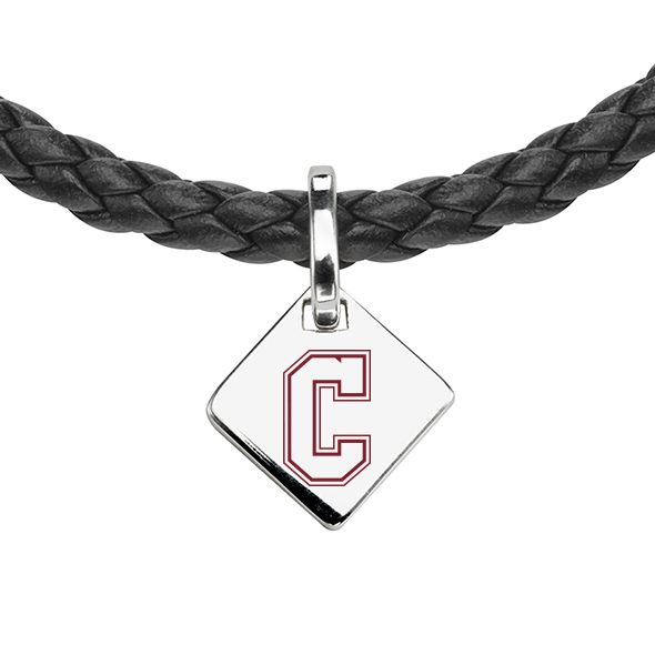 College of Charleston Leather Necklace with Sterling Silver Tag - Image 2