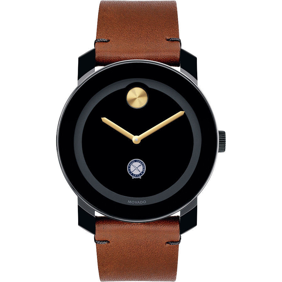 U.S. Naval Institute M's Movado BOLD w/ Brown Leather Strap - Image 2