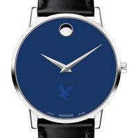 Embry-Riddle Men's Movado Museum with Blue Dial & Leather Strap