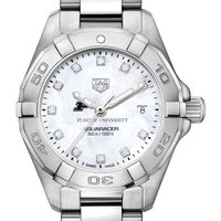 Purdue Women's TAG Heuer Steel Aquaracer with MOP Diamond Dial