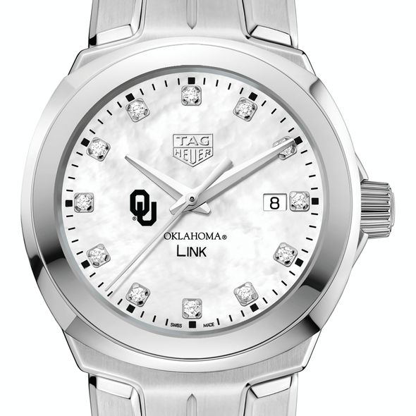 University of Oklahoma TAG Heuer Diamond Dial LINK for Women