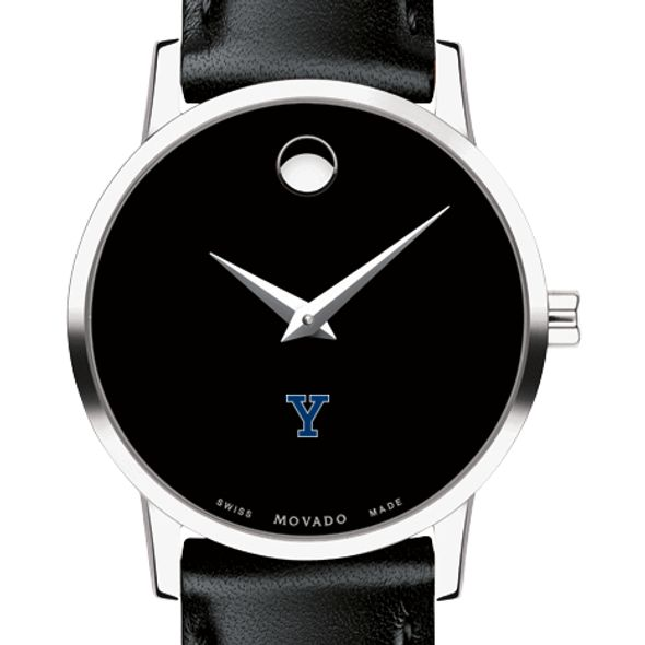 Yale University Women's Movado Museum with Leather Strap - Image 1