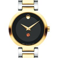 Clemson Women's Movado Two-Tone Modern Classic Museum with Bracelet