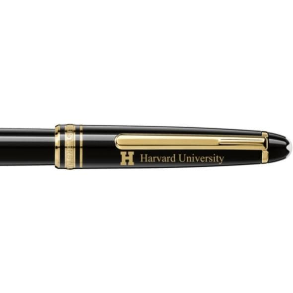 Harvard University Montblanc Meisterstück Classique Rollerball Pen in Gold - Image 2