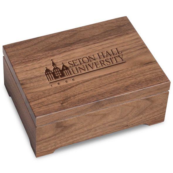 Seton Hall Solid Walnut Desk Box - Image 1