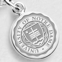 Notre Dame Sterling Silver Charm