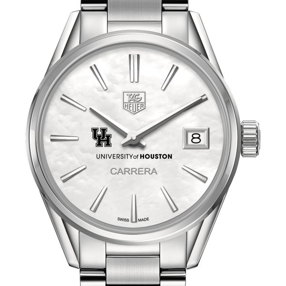 Houston Women's TAG Heuer Steel Carrera with MOP Dial - Image 1