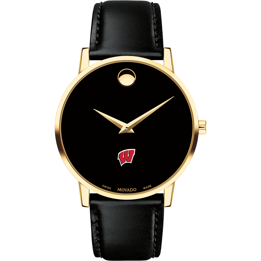 Wisconsin Men's Movado Gold Museum Classic Leather - Image 2