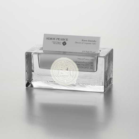 UNC Glass Business Cardholder by Simon Pearce - Image 2