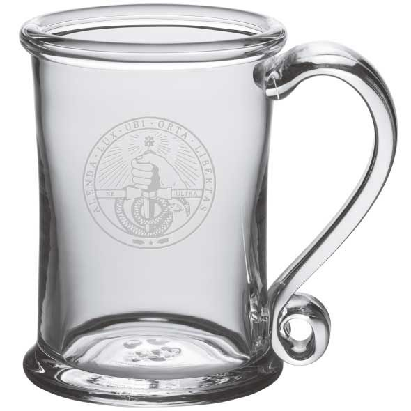 Davidson College Glass Tankard by Simon Pearce