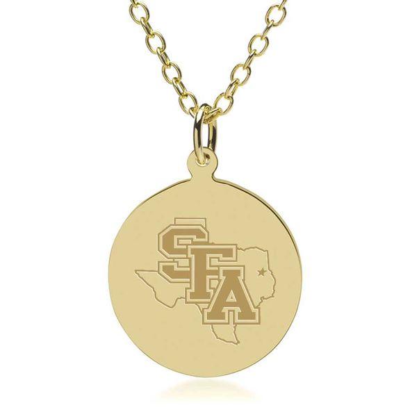 SFASU 14K Gold Pendant & Chain