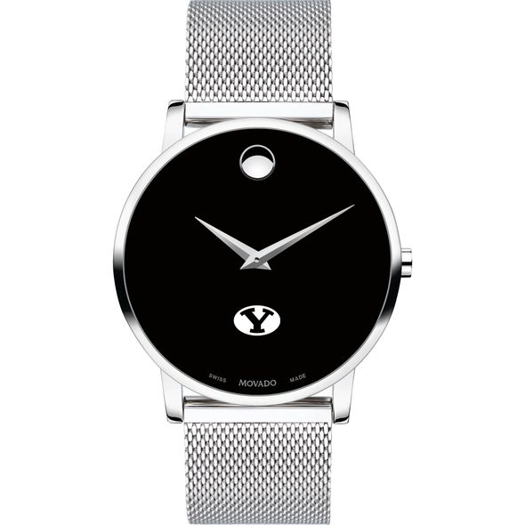 Brigham Young University Men's Movado Museum with Mesh Bracelet - Image 2