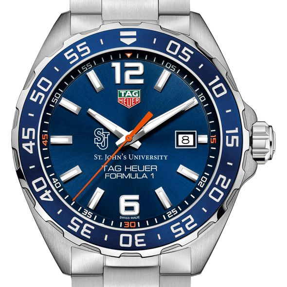 St. John's University Men's TAG Heuer Formula 1 with Blue Dial & Bezel