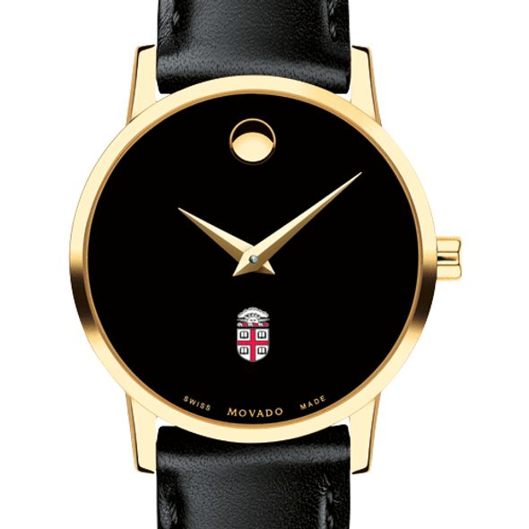 Brown University Women's Movado Gold Museum Classic Leather