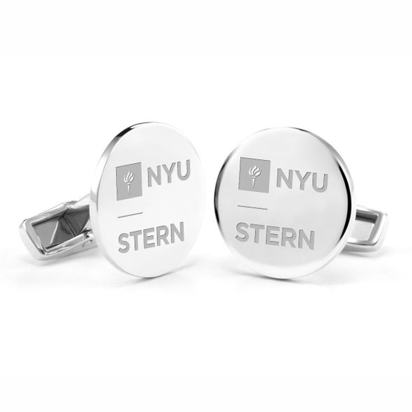 NYU Stern Cufflinks in Sterling Silver - Image 1