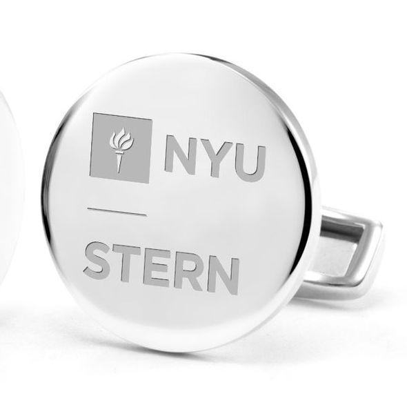 NYU Stern Cufflinks in Sterling Silver - Image 2