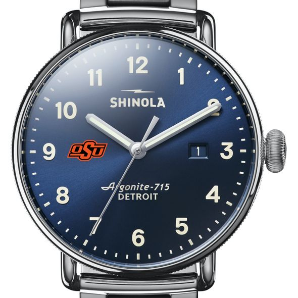 Oklahoma State Shinola Watch, The Canfield 43mm Blue Dial - Image 1