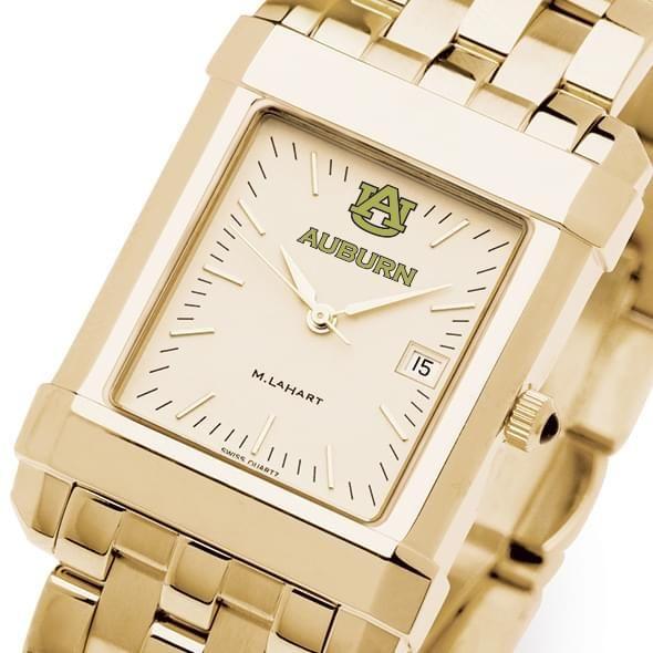 Auburn Men's Gold Quad Watch with Bracelet