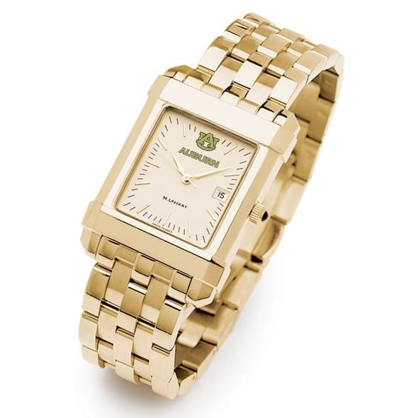 Auburn Men's Gold Quad Watch with Bracelet - Image 2