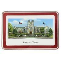 Virginia Tech Eglomise Paperweight