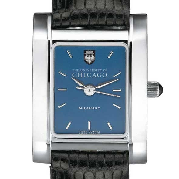 Chicago Women's Blue Quad Watch with Leather Strap