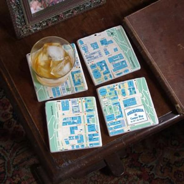 Columbia Campus Marble Coasters