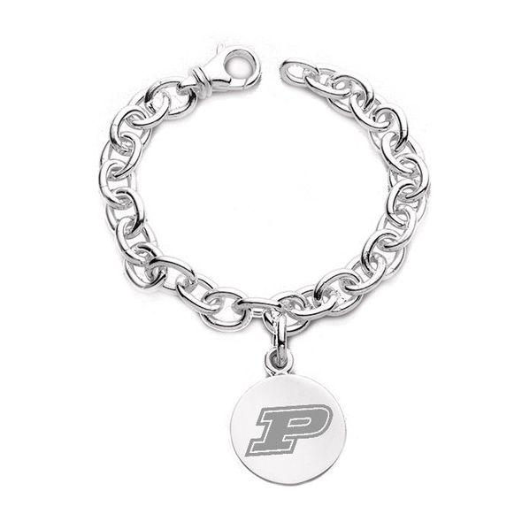 Purdue University Sterling Silver Charm Bracelet