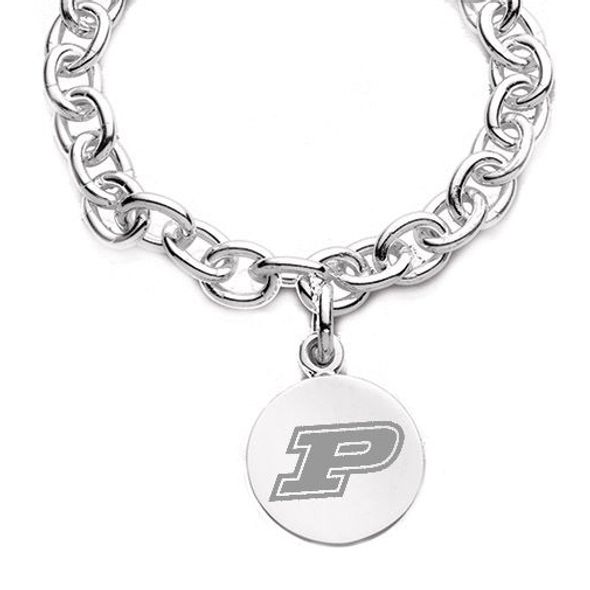 Purdue University Sterling Silver Charm Bracelet - Image 2