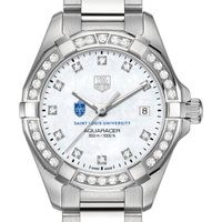 Saint Louis University W's TAG Heuer Steel Aquaracer with MOP Dia Dial & Bezel