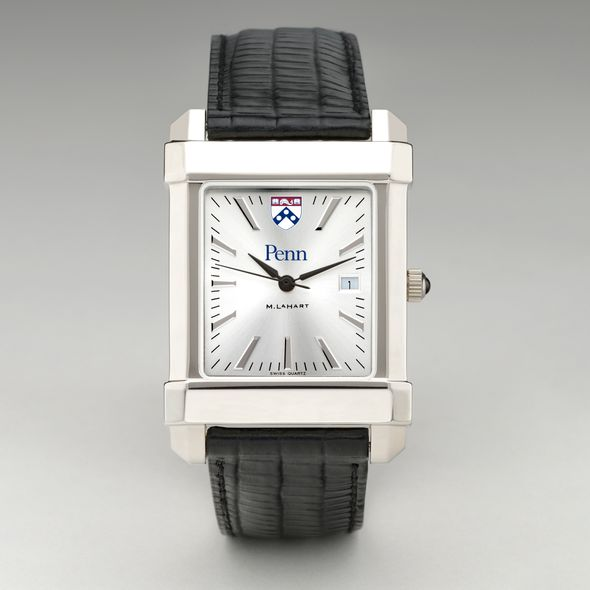 Wharton Men's Collegiate Watch with Leather Strap