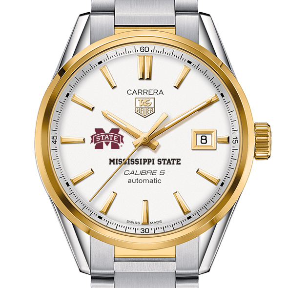 Mississippi State Men's TAG Heuer Two-Tone Carrera with Bracelet