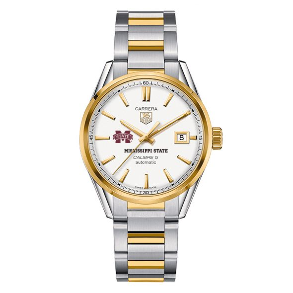 Mississippi State Men's TAG Heuer Two-Tone Carrera with Bracelet - Image 2