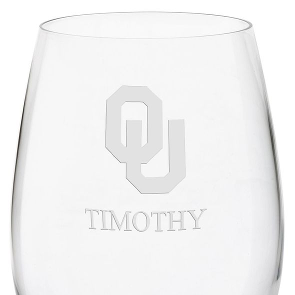 Oklahoma Red Wine Glasses - Set of 4 - Image 3