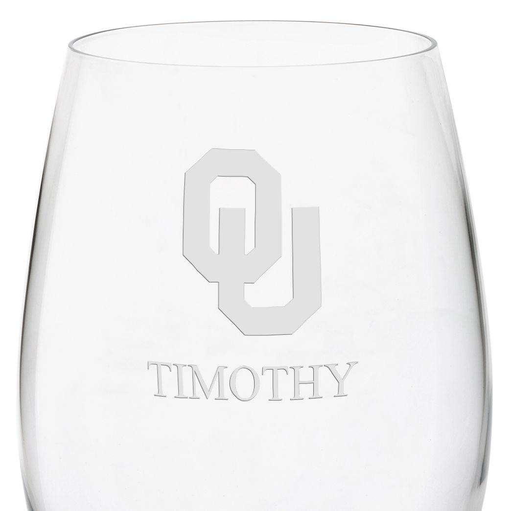 Oklahoma Red Wine Glasses - Set of 4 - Image 3