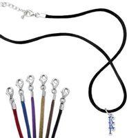 Kappa Kappa Gamma Satin Necklace with Greek Letter Charm