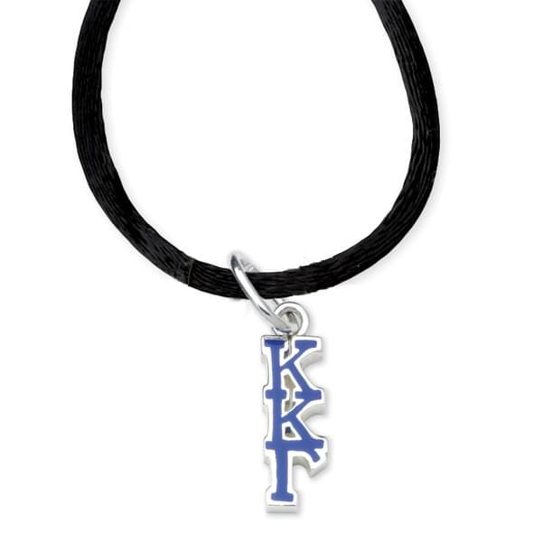 Kappa Kappa Gamma Satin Necklace with Greek Letter Charm - Image 2