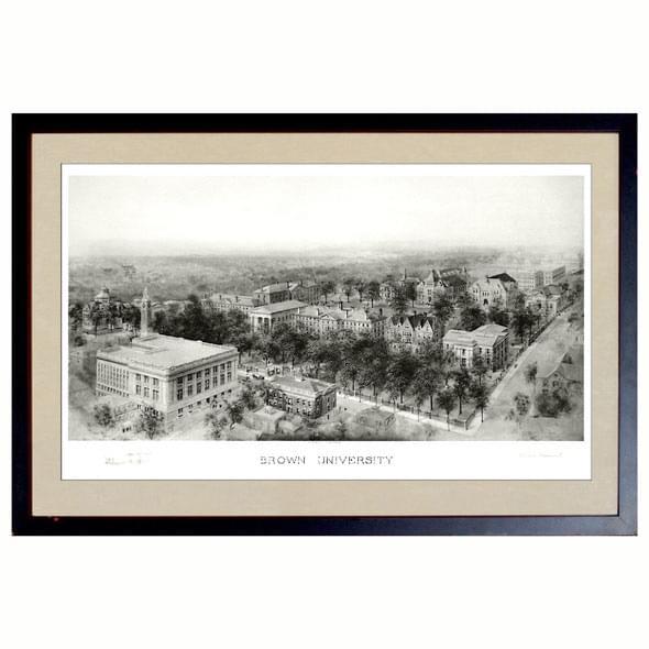 Historic Brown University Black and White Print