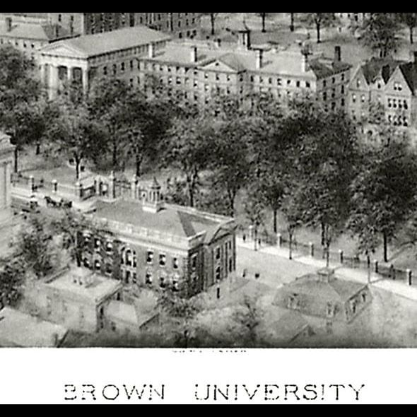 Historic Brown University Black and White Print - Image 2