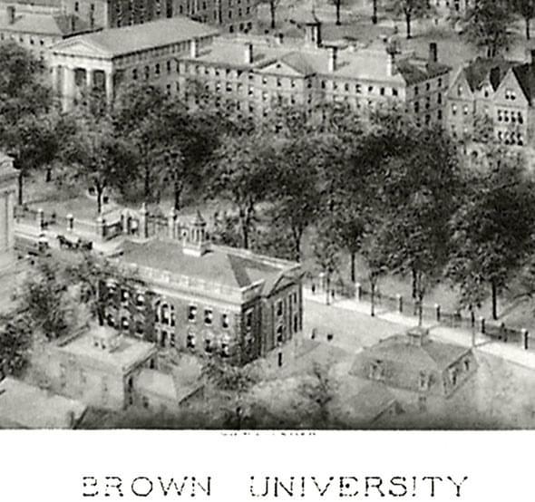 Historic Brown University Black and White Print - Image 2