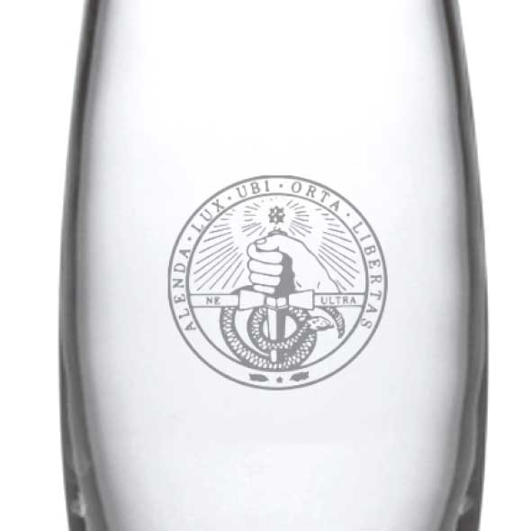 Davidson College Glass Addison Vase by Simon Pearce - Image 2