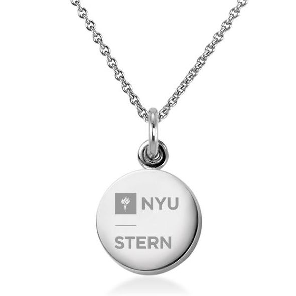 NYU Stern Necklace with Charm in Sterling Silver