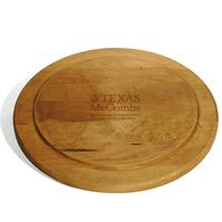 Texas McCombs Round Bread Server