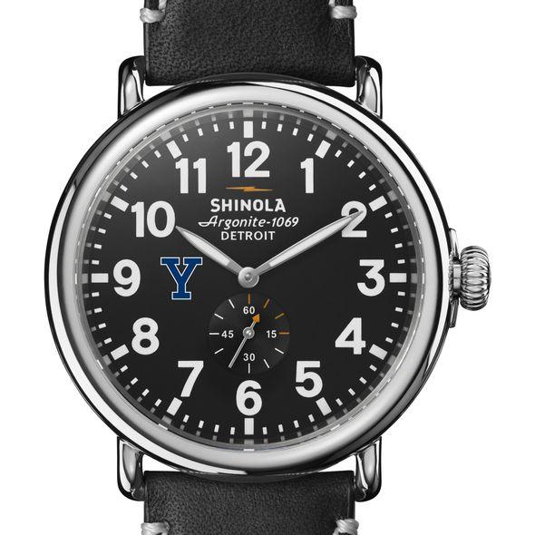 Yale Shinola Watch, The Runwell 47mm Black Dial - Image 1