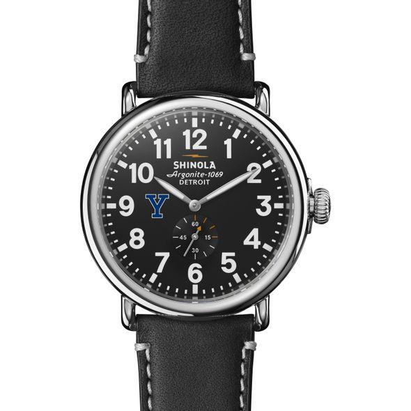 Yale Shinola Watch, The Runwell 47mm Black Dial - Image 2