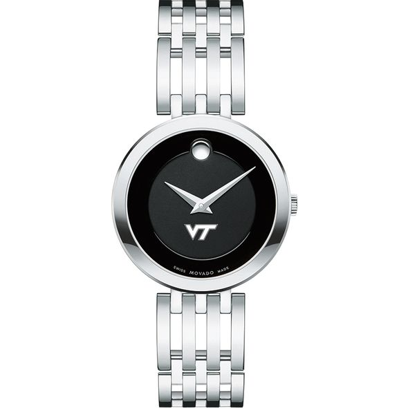 Virginia Tech Women's Movado Esparanza Stainless Steel Museum with Bracelet - Image 2