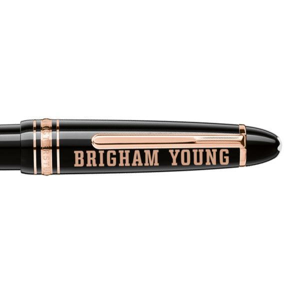 Brigham Young University Montblanc Meisterstück LeGrand Ballpoint Pen in Red Gold - Image 2